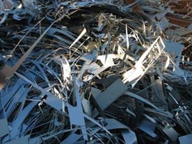 Metallschrott auf einem Wertstoffhof