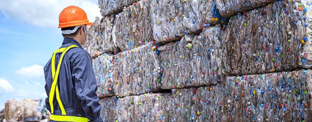 recycling von Baustoffen im Recycling-Center